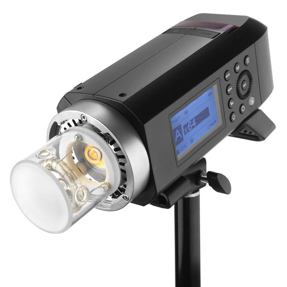 Godox AD400Pro Witstro All-in-One Outdoor Flash 400ws Strong Power,0.01~1s Recycle Time,12 Continuous Flashes in 1/16 Power Output,30w LED Modeling Lamp,390 Full Power Pops,Stable Color Temperature by Godox (Image #7)