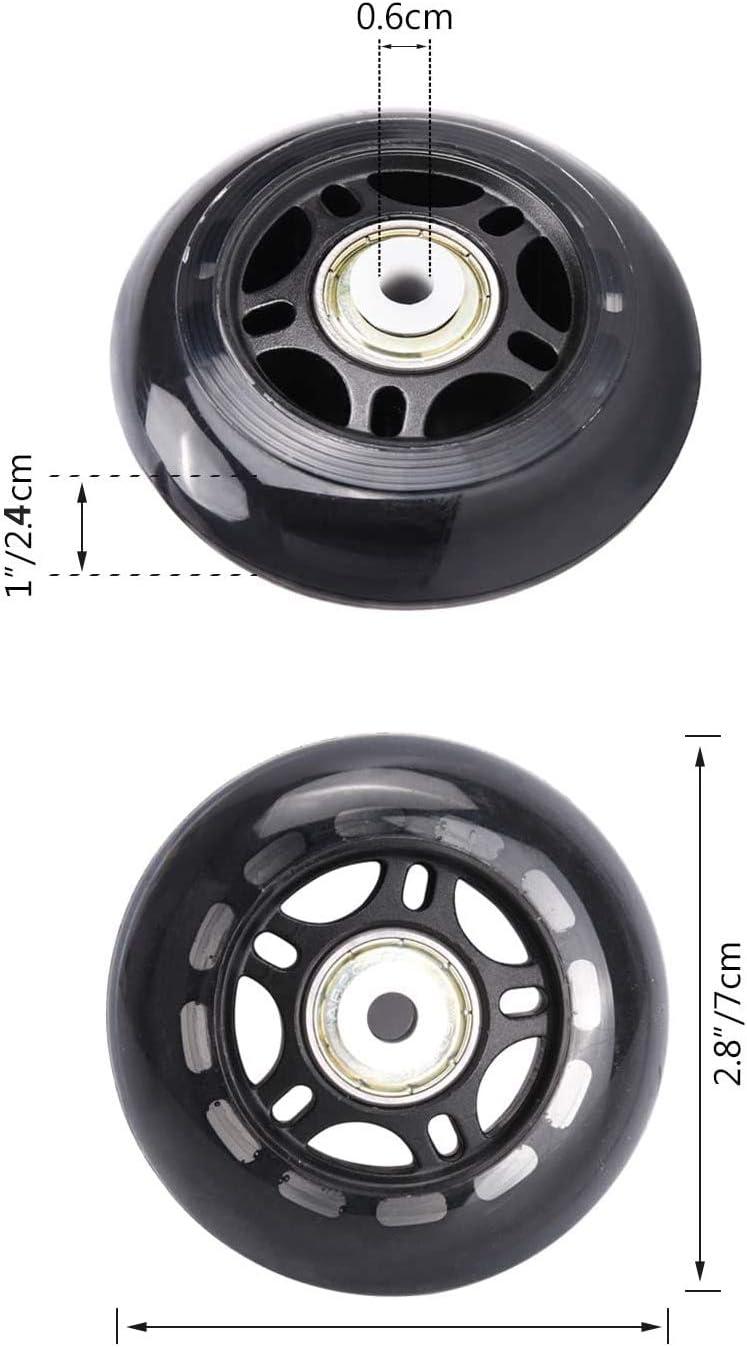 Adanse 8 Pack Inline Skate R?Der Anf?Nger Roller Klingen Ersatz Rad mit Lagern Roller Blade R?Der 70Mm