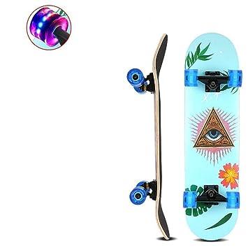 Lujo Doble Flash Skateboard Cuatro Rondas De Niños, Niñas Y Adultos,Los Ojos De