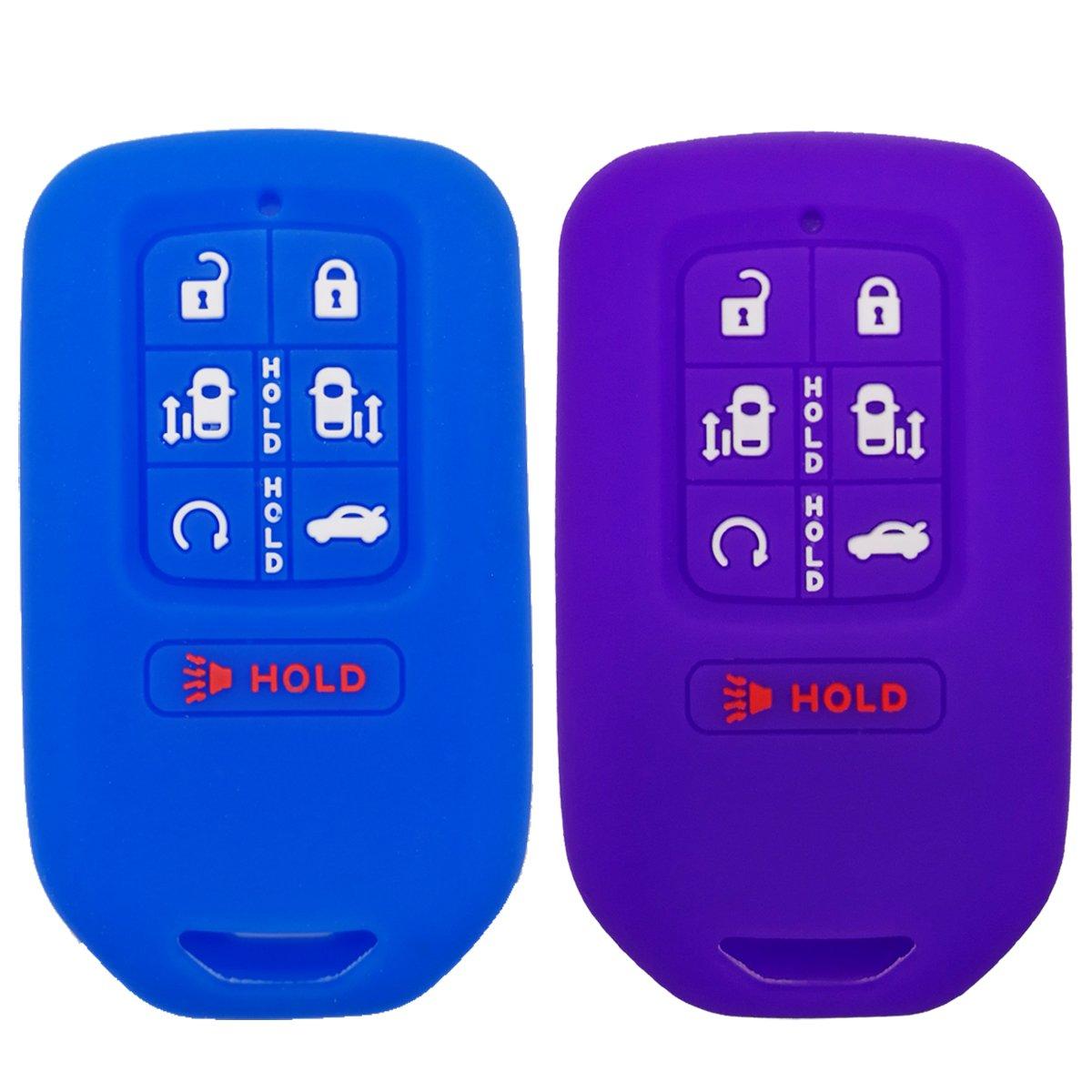 2Pcs Coolbestda Smart Key Fob Cover Skin Remote Case Keyless Entry Jacket Shell for 2020 2019 2018 Honda Odyssey elite ex