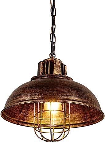 33cm,Black Industrial Retro Pendant Light Wide Ceiling Lighting Chandelier 1-Light with Chain Huahan Haituo Vintage Metal Industrial Chandelier