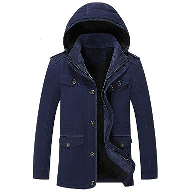 vaste gamme de nouvelle collection prix raisonnable Fanessy Veste d'hiver Froid Homme Manteau Jacket Blouson Mi ...