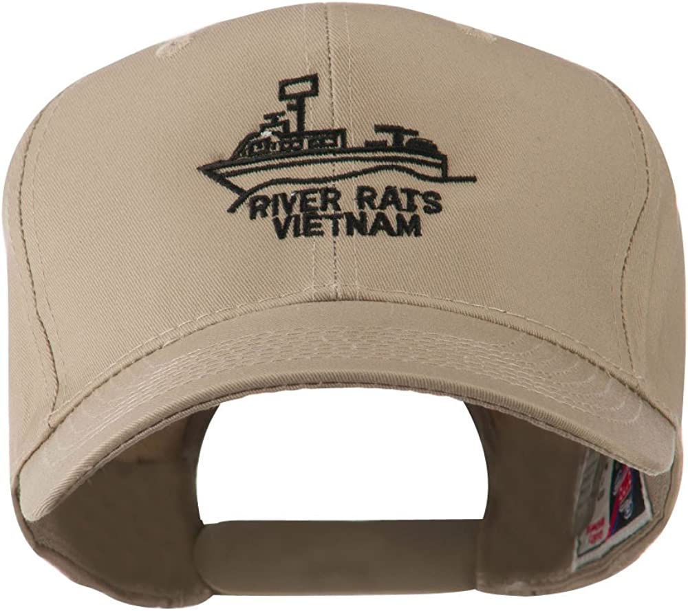 e4Hats.com River Rats Vietnam with Riverboat Embroidered Cap