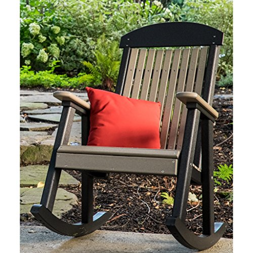 LuxCraft Classic Traditional Recycled Plastic Rocking Chair ()