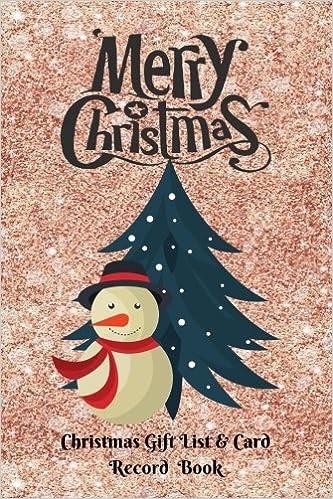 Family Christmas Gift Lists.Christmas Gift List Card Record Book Keep Track Of