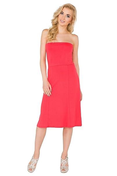47fccdb96c9d Futuro Fashion Womens Bandeau Midi Summer Sleeveless Skater Dress Sizes  8-14 8205 at Amazon Women s Clothing store