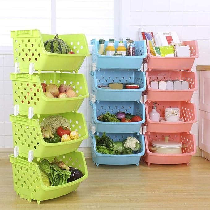 Kitchen Fridge Space Saver Under Shelf Rack Holder Drawer Basket Storage Durable