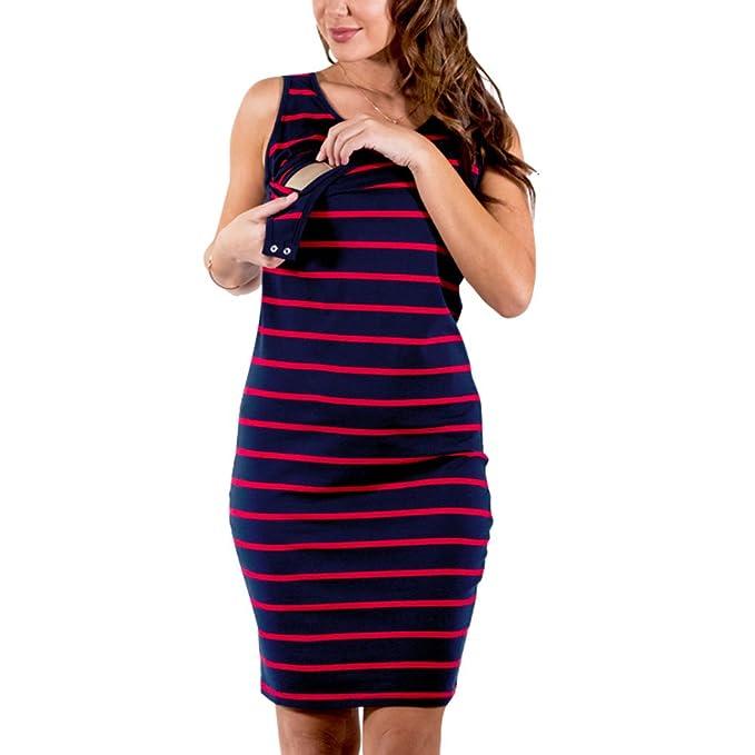 Meedot Vestidos de lactancia Vestidos de lactancia para mujeres embarazadas Embarazo Lactancia materna Ropa de enfermería