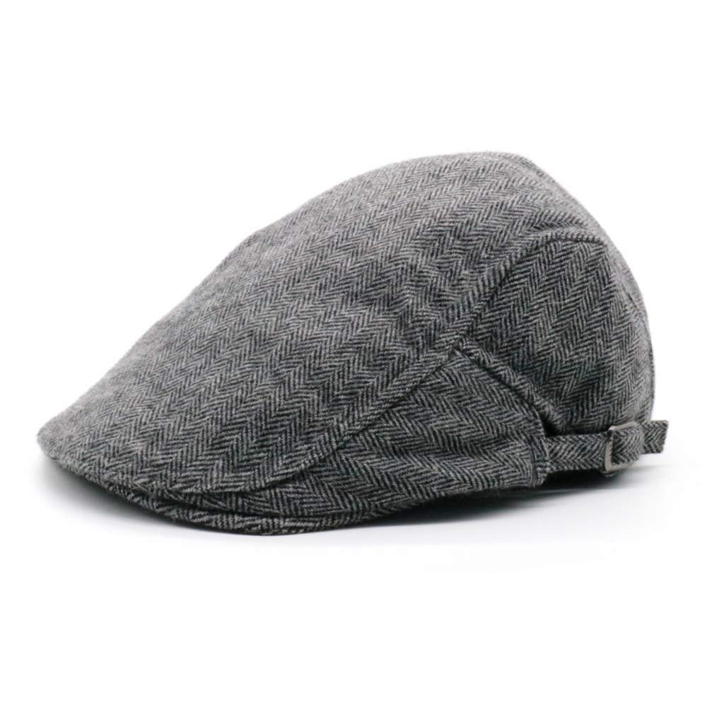 Men's Newsboy Gatsby Hats Cotton Flat Snap Vintage Beret Ivy Cabbie Flat Driving Hunting Cap for Autumn Winter Boyfriend Gift PanStarslight