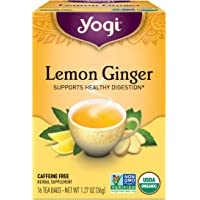 Pack of 1 x Yogi Tea Lemon Ginger - Caffeine Free - 16 Tea Bags