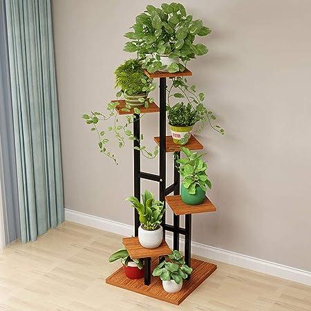 Ping BU Qing Yun Soporte de Flores, Escalera de Caracol, Estante de decoración de Plantas for el hogar Multifuncional Que Ahorra Espacio, Adecuado para: Sala de Estar/balcón/Exterior/jardín, DIS: Amazon.es: Hogar