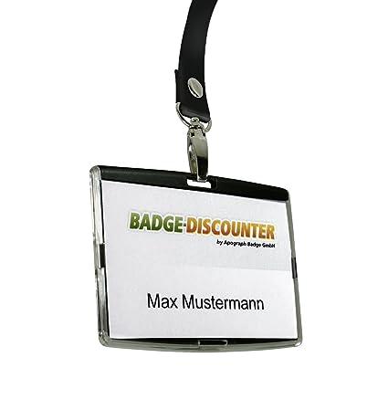 Badge-Discounter Porte-badge en matière plastique rigide ...