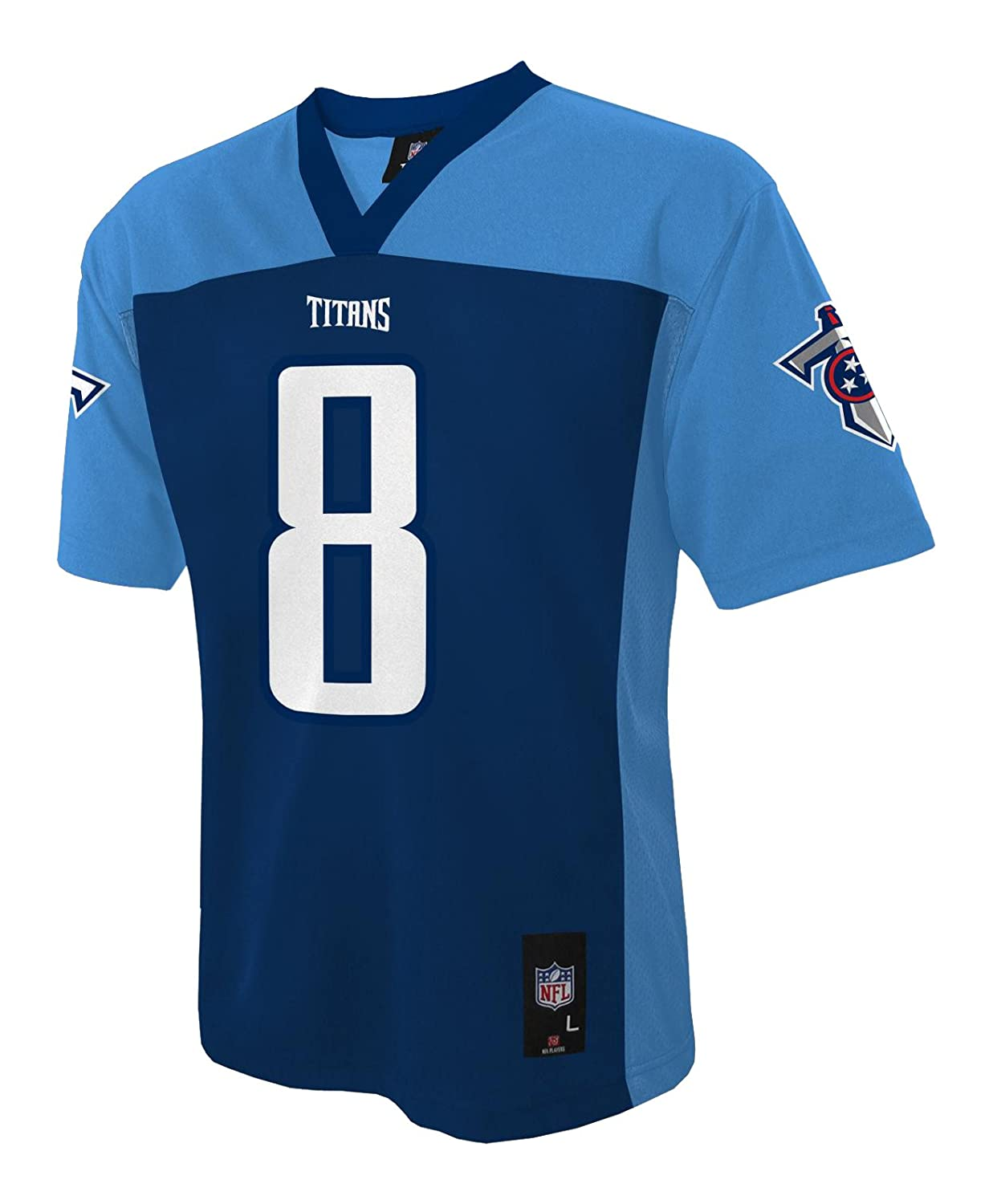 NFL Tennessee Titans Boys Playerファッションジャージー Large (7) Tennessee Titans B01ENK6DH6