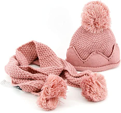 Gorro de bebe y bufanda Bebé niña niño cálida sombrero de punto ...