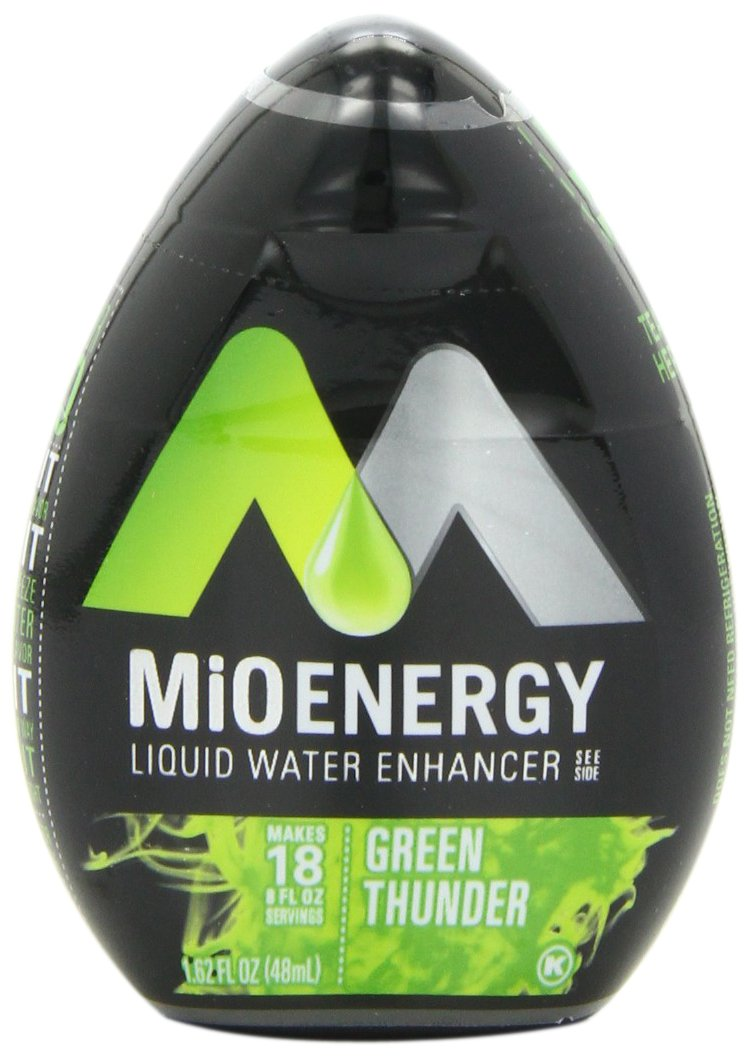 MiO Energy Liquid Water Enhancer, Green Thunder, 1.62 Ounce (Pack of 12)