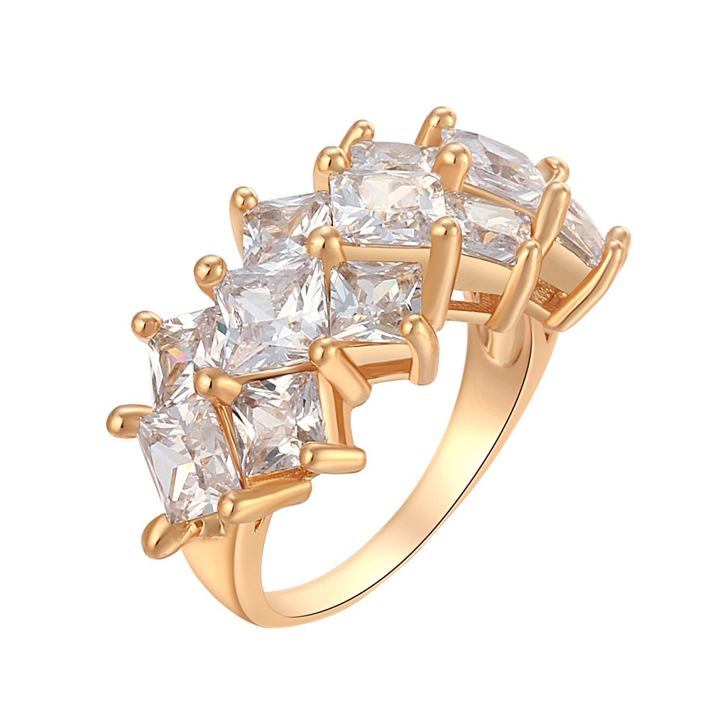 YAZILIND 18K Gold Plated Decration Ring Crown like 18K Gold Plated Party Jewelry Cute Size 7.75 YAZILIND JEWELRY LIMITED 1076R0590