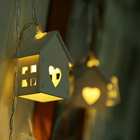 Wood House String Lights