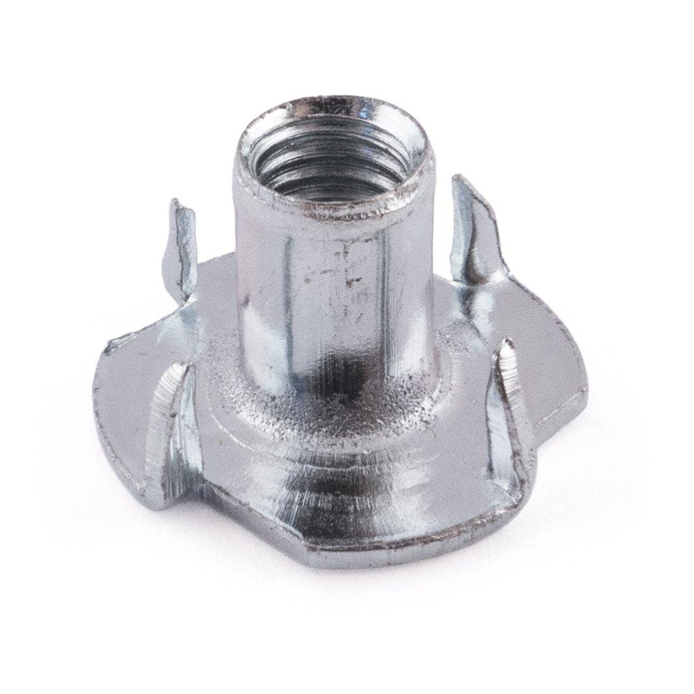 4à griffes en acier T-nut, Zinc plaqué, M4x 6mm Zinc plaqué M4x 6mm SD Products Ltd PTN0406BZ-50