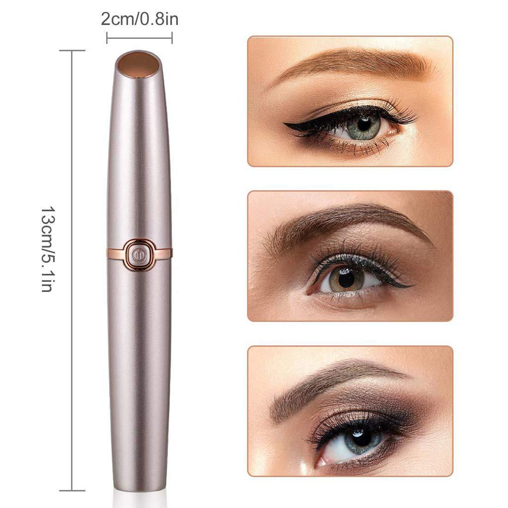 Meidexian888 Electric Eyebrow Trimmer for Women,Portable Eyebrow Hair Remover Special ABS + Stainless Steel Blade Material by Meidexian888 Hair Removal (Image #8)
