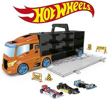 ODS- Transporter 40 Hot Wheels Camión maletín con Coche Original Incluido, Color Naranja, 42033: Amazon.es: Juguetes y juegos