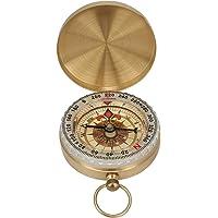 Vintage Pocket Compass Messing Horloge Type Lichtgevende Flip Kompas met Cover voor Outdoor Bergbeklimmen Wandelen…