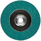 "3M Flap Disc 577F, T27, Alumina Zirconia, Dry/Wet, 4-1/2"" Diameter, 80 Grit, 5/8""-11 Thread Size (Pack of 1)"