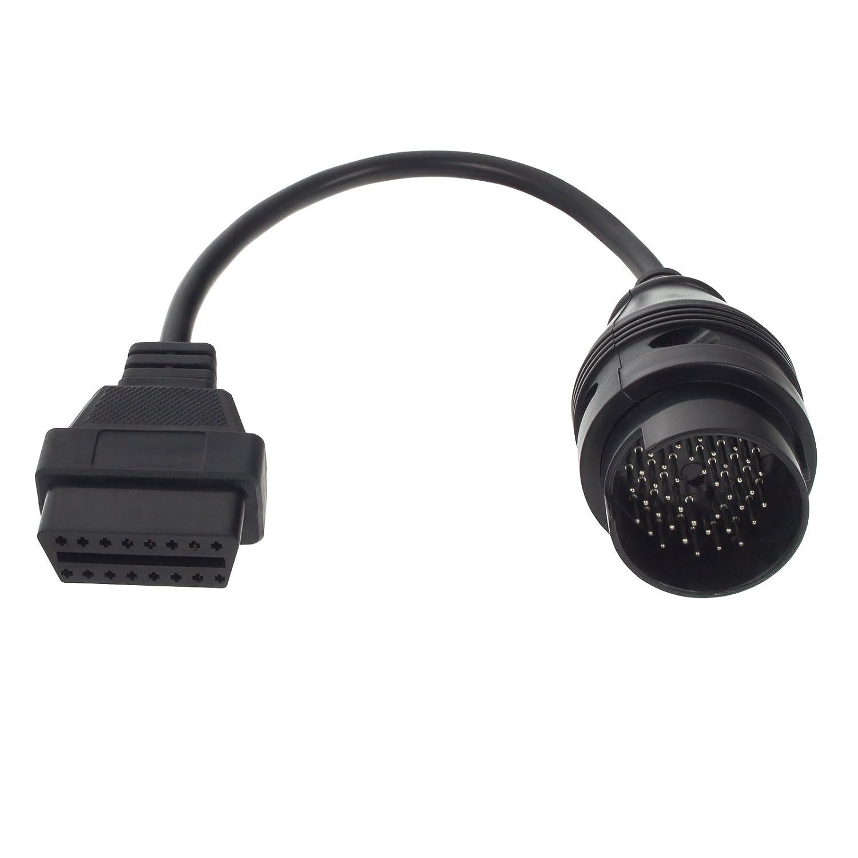 Smartfox 38 Pin DLC Buchse auf 16 Pin OBD2 Stecker Adapter Verlä ngerungskabel Diagnose Interface fü r Mercedes Benz W124, W140, W202, S202 von Baujahr 1987-2000