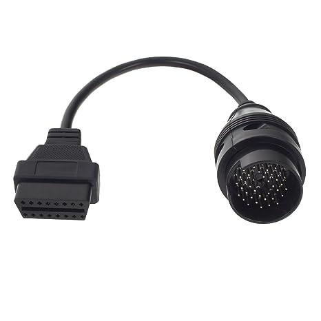 Smartfox 38 Pin DLC hembra a 16 Pin OBD2 Conector Adaptador Cable alargador Interface de diagnóstico