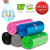Small Wastebasket Trash Bags, 4 Gallon Clear Garbage Bags Extra Strong Trash Liners Small Bathroom Trash Bags For Bedroom, Home, Kitchen, 150 Counts