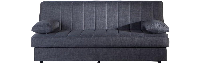 Sofá cama Primavera Plus con recipiente apertura a libro, revestimiento de tela gris: Amazon.es: Hogar