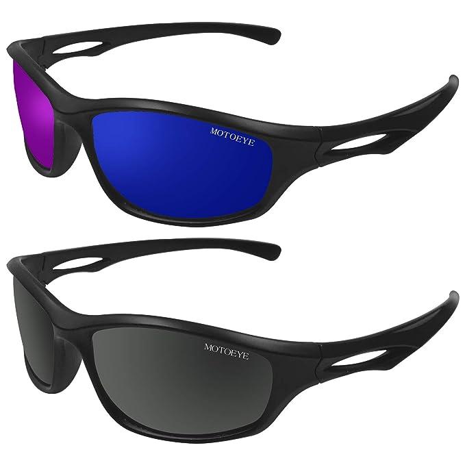 28f7d67cf23 Amazon.com  MOTOEYE Set of 2 UV 400 Polarized Sunglasses for Men ...