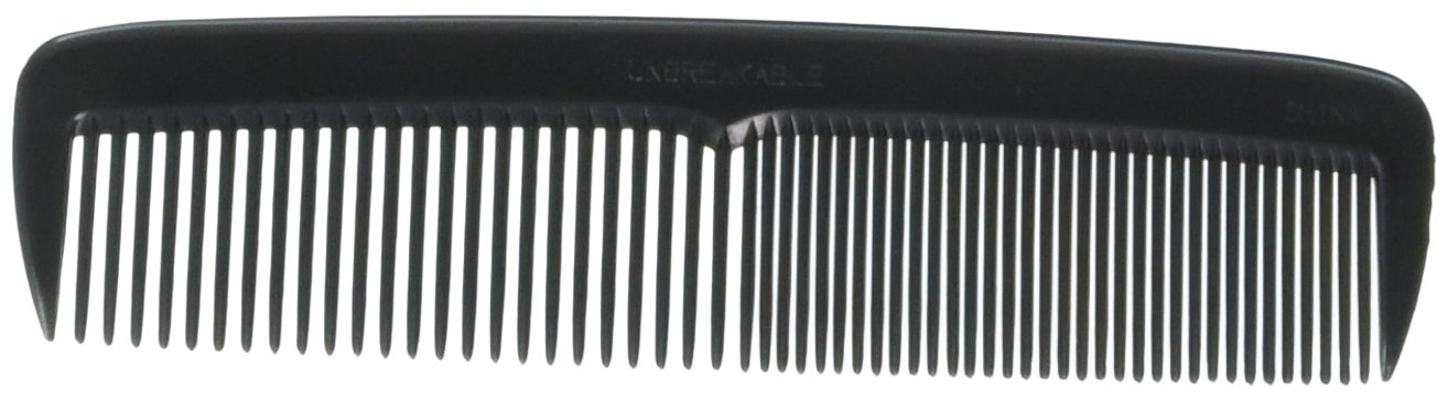 Hair Comb 5 Pocket Size Unbreakable, 72 Piece in a Jar, Black, Ameliana