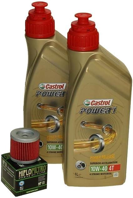 Cambio de aceite Set 2 litros Castrol SAE 10 W de 40 Power 1 4t ...