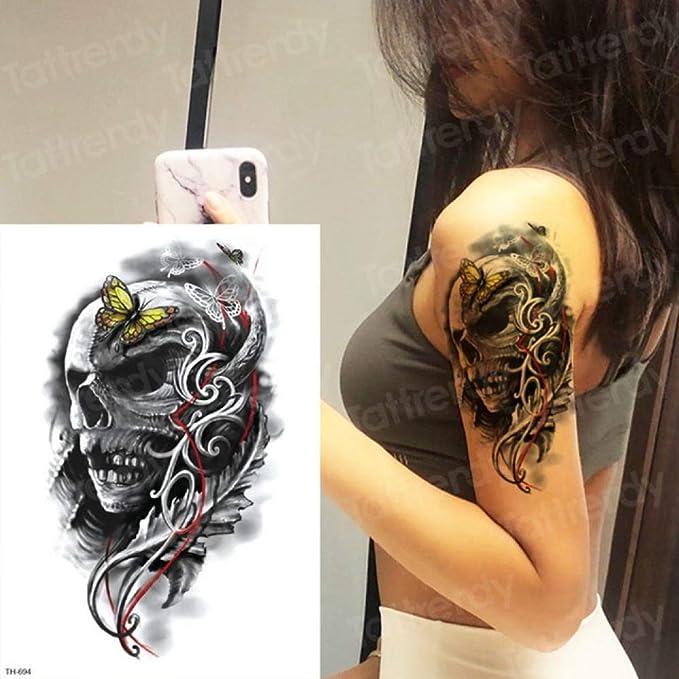 Handaxian 3pcs-6 Samurai Tatuaje Hombre Brazo Tatuaje Bosquejo ...