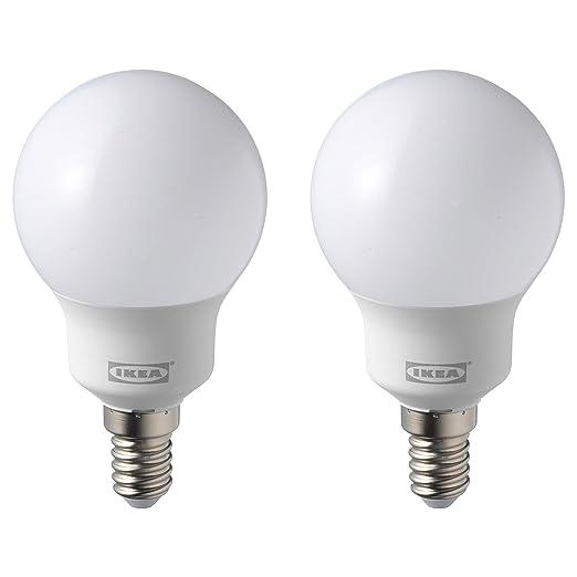 IKEA RYET E14 - Juego de 2 bombillas LED (2 unidades, 600 lúmenes,