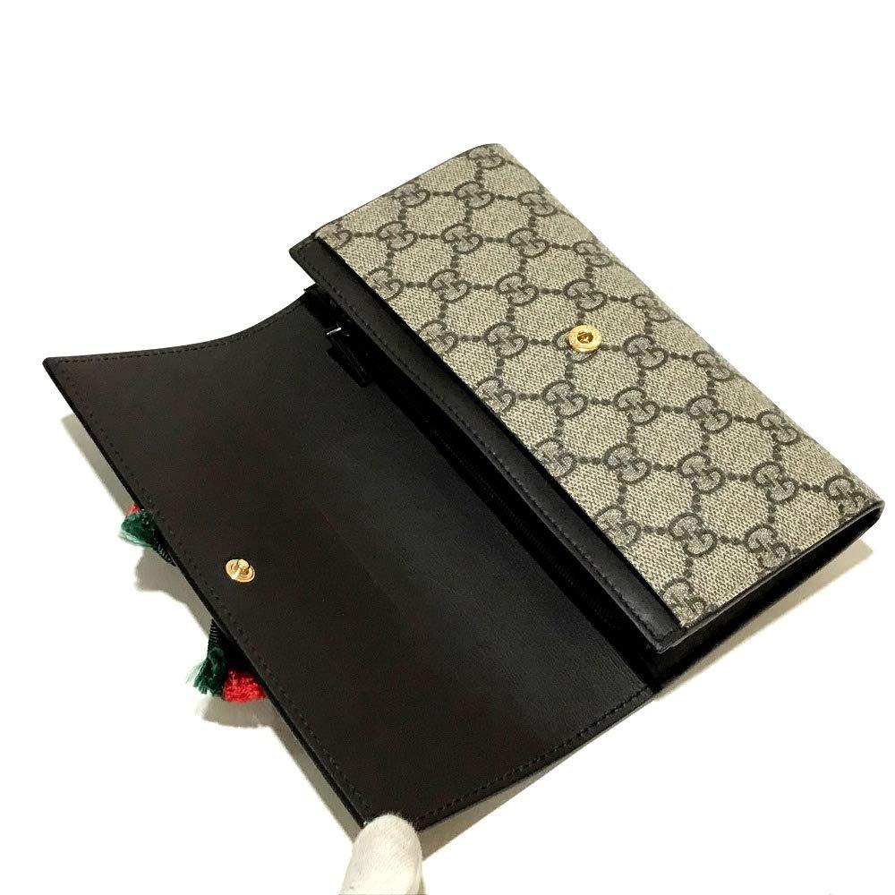 5c0224180422 Amazon | (グッチ)GUCCI 432253 リボン クリスタル シェリーライン GGプラス フラップ 長財布(小銭入れあり) PVC×レザー  レディース 新品同様 中古 | 財布