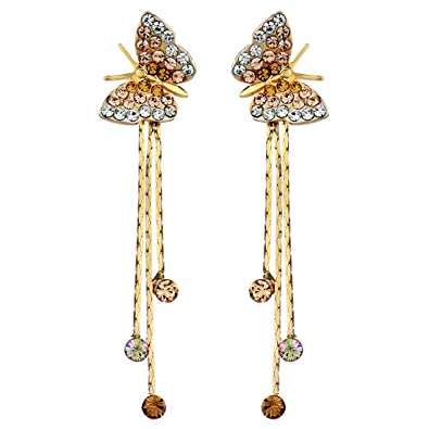 hanging jewelry cubic for girl zirconia online earrings gifts product disco ball cheap double earring yellow gold lady rose inlaid fashion by long dangles women