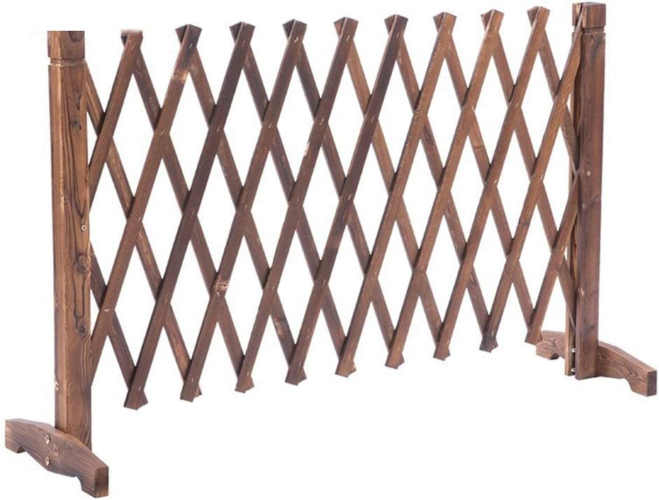 ZENGAI Expanding Wooden Fence Decorative Garden Fence Outdoor Products Extendable Instant Fence Flower Bed 28X63 Inch