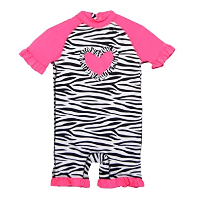 Baby Girls Rashguard Onesie 50 UV Protection Zebra