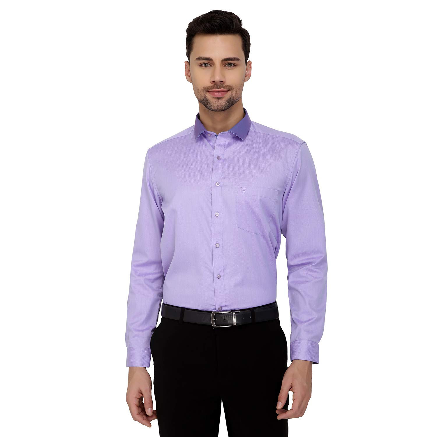 a3c35bae9c8 Equation Formal Shirt for Men – Purple Color Shirt for Men - 100% Cotton  Yarn-Dyed Fabric with Softner Washed Shirts – Regular Fit Shirts for Men –  Long ...