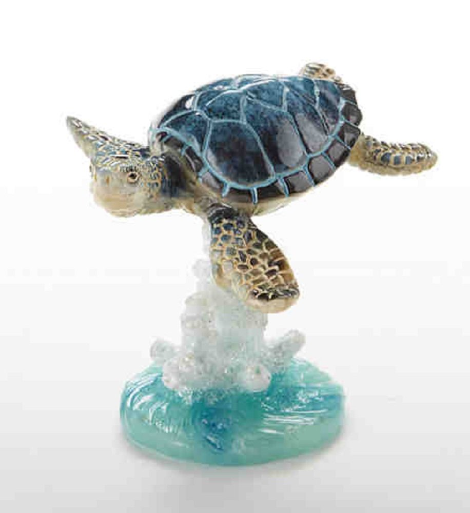 Delton Products 3.5 inches x 3.4 inches Resin Turtle on Coral Collectible Figurine
