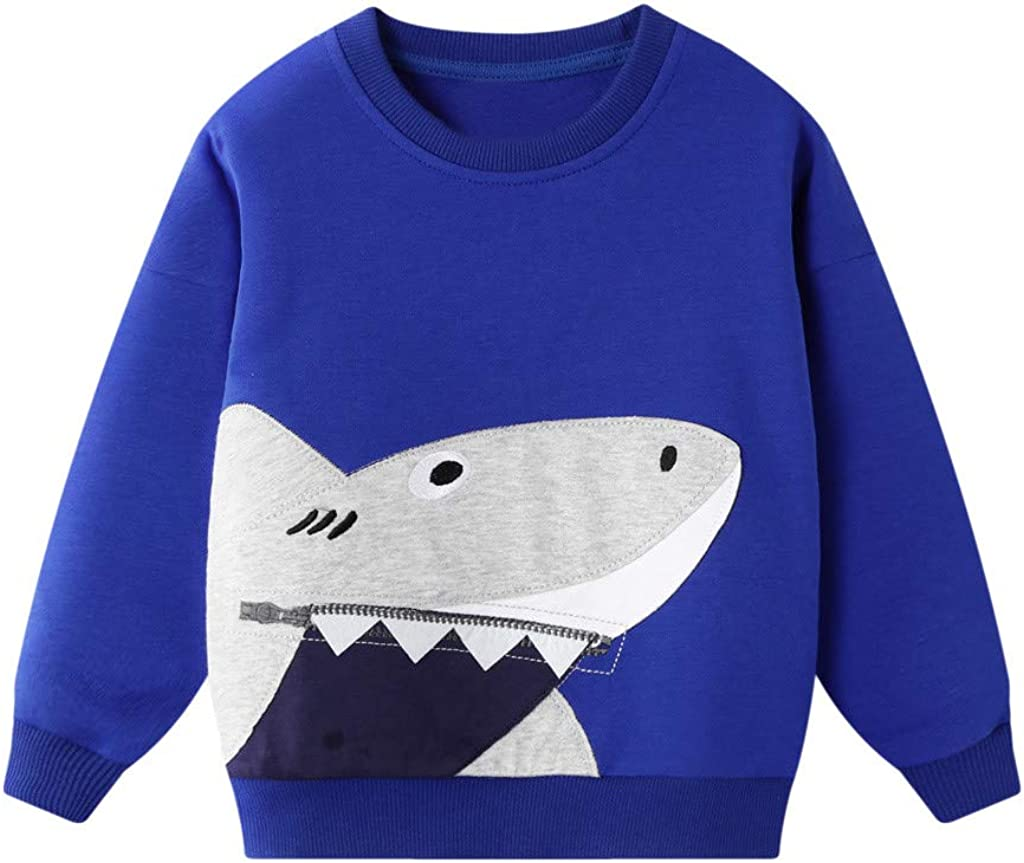 Baby Boy Top erthome Toddler Kids Baby Boys Girls Sweatshirt Cartoon Pullover Top Clothes