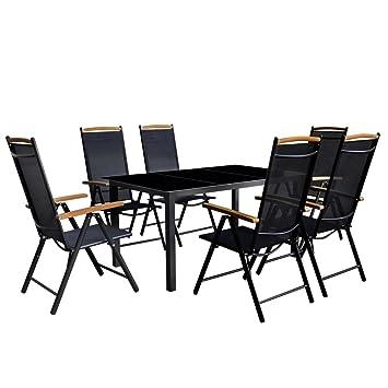 binzhoueushopping Jeu de Salle à Manger de Jardin Design élégant 7 ...