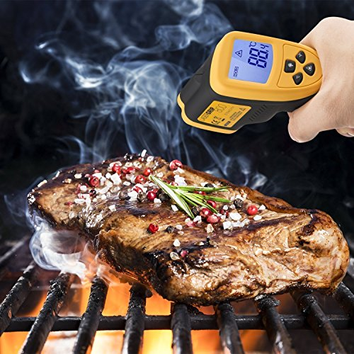 Etekcity Lasergrip 800 Digital Infrared Thermometer Laser Temperature Gun Non-contact -58℉ - 1382℉ (-50℃ to 750℃), Yellow/Black by Etekcity (Image #6)