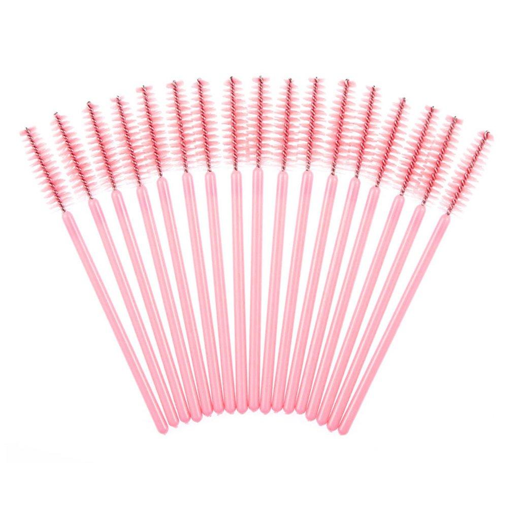 M-Egal 100pcs Colored Disposable Eyelash Brush Mascara Wands Eyelash Applicator Black handle + black
