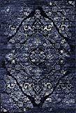 navy blue rugs - 4620 Distressed Navy 5x7 Area Rug Carpet Large New