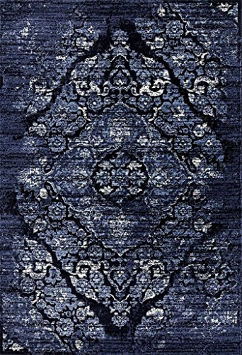 4620 distressed navy area rug