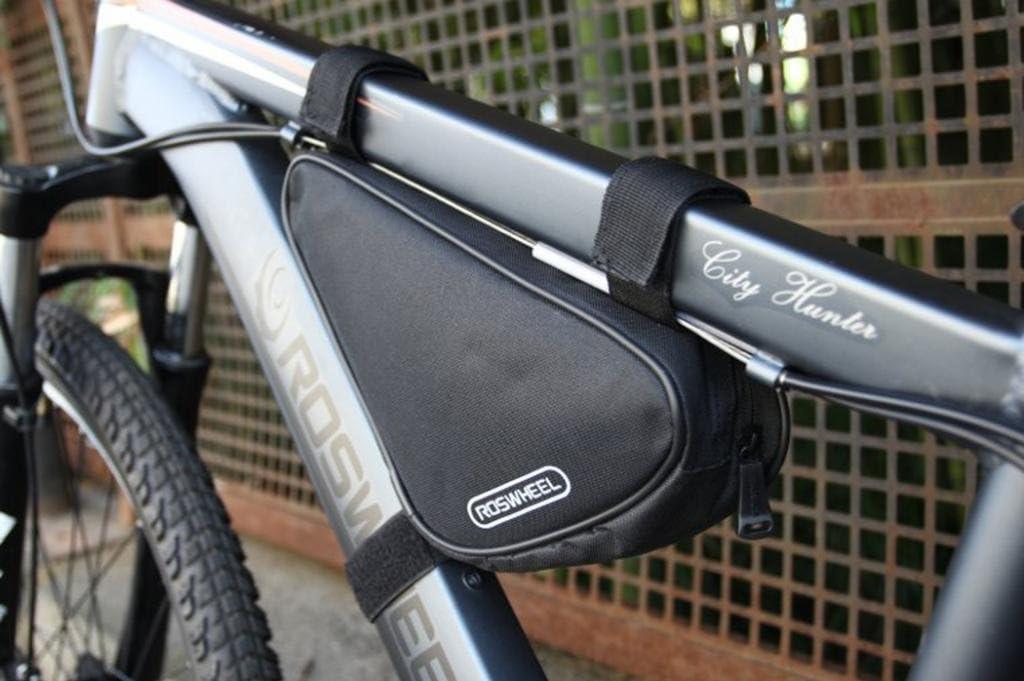 Tofern bicicletta ciclismo Sac neuf Triangle pour faire du v/élo sac de selle avant Pochette Frame Noir 1.5L 8 couleurs