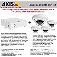 Axis Companion Bundle - 0893-004 Video Recorder 4TB + (4) 0894-001 Dome Cameras