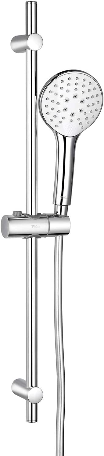 Amzdeal Sistema de Ducha 700 mm, Conjunto de Ducha con Barra 3 chorros, Barra de Ducha, Manguera de Ducha PVC 150 cm, Ducha de Mano 110mm / AZ012R